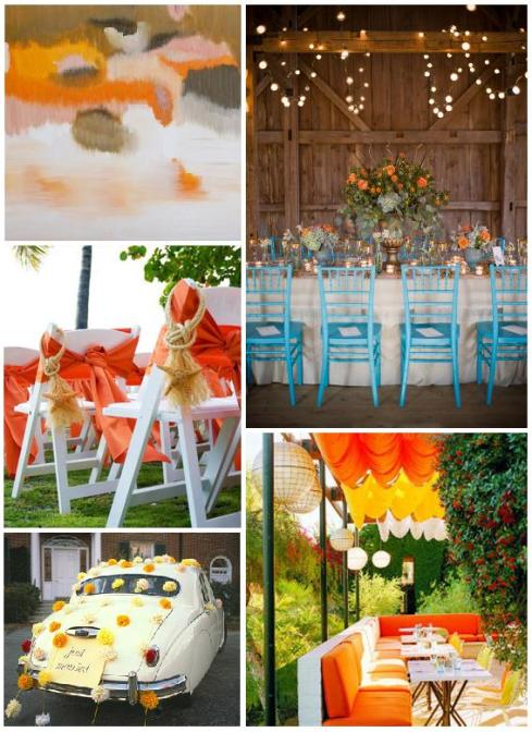 Using orange can add a cheey touch to any San Diego wedding