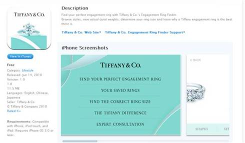 Tiffany and Co. recently launched an app to find the perfect engagement ring.  Love it!