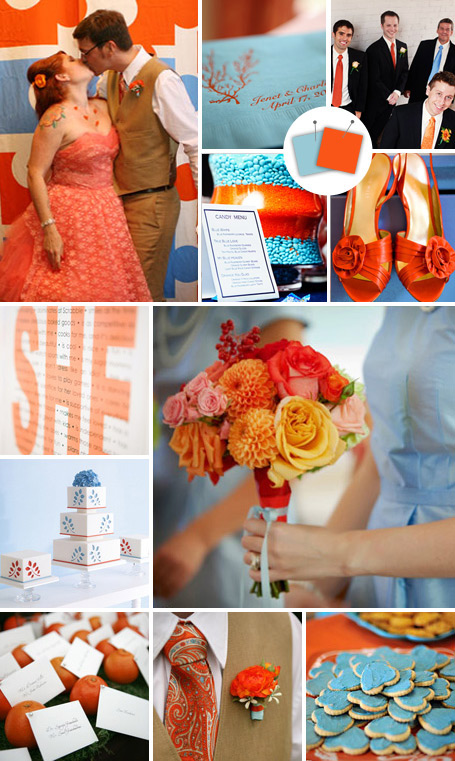This week 39s featured color combo is Burnt Orange Sky Blue
